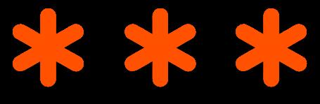 orange decorative stars