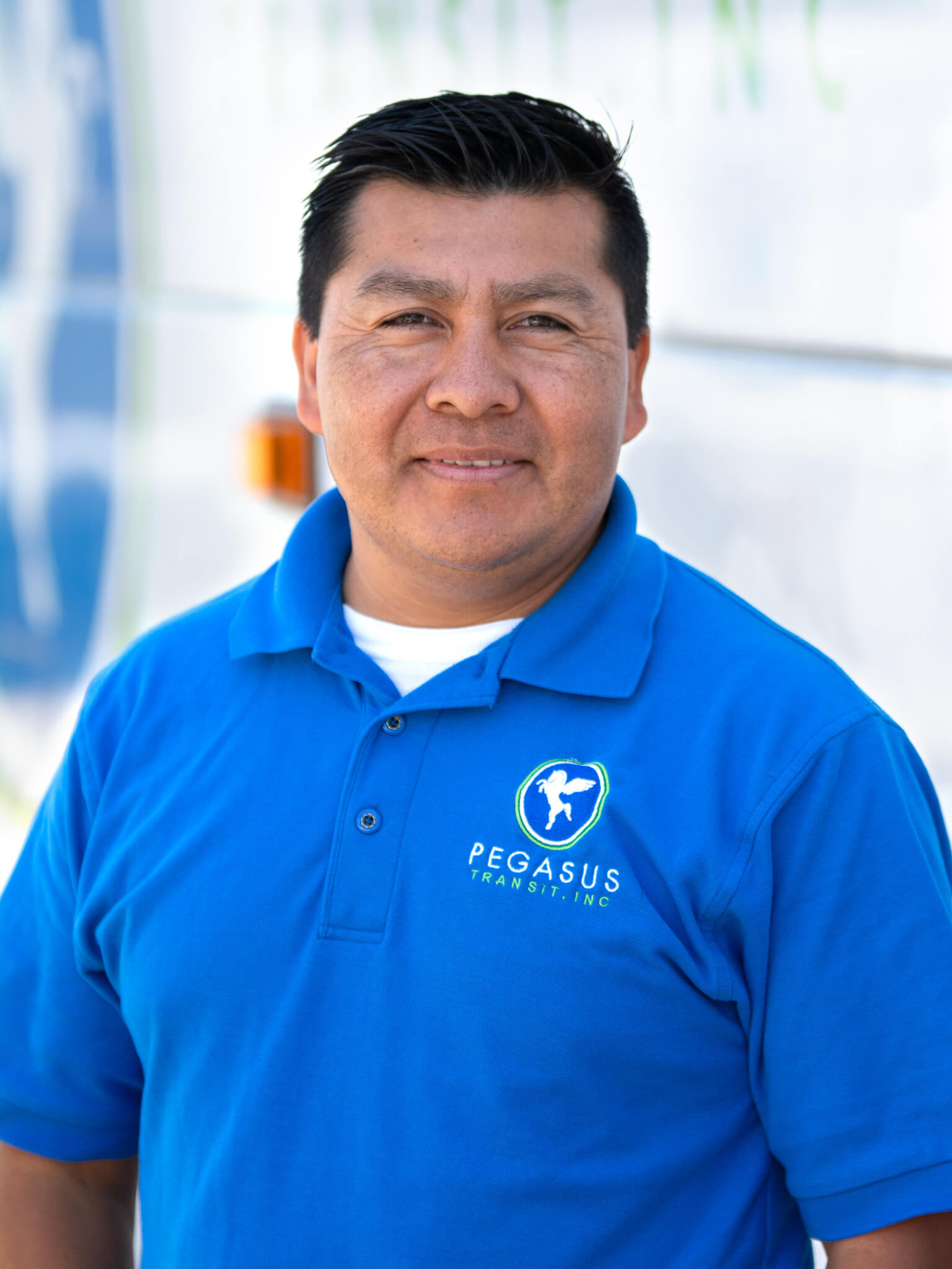 Portrait of one of Pegasus Transit's bus drivers.