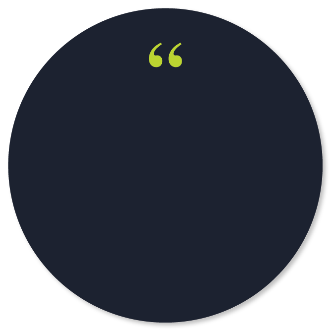 circle with quotation mark