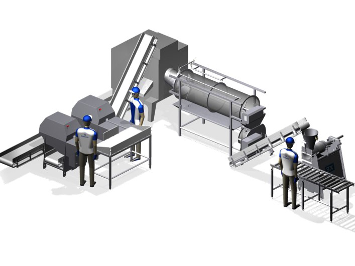 The frame-cutting machine from Skaginn 3X uses 1 sq. meter of floor space and offers a capacity of 60 pcs/min