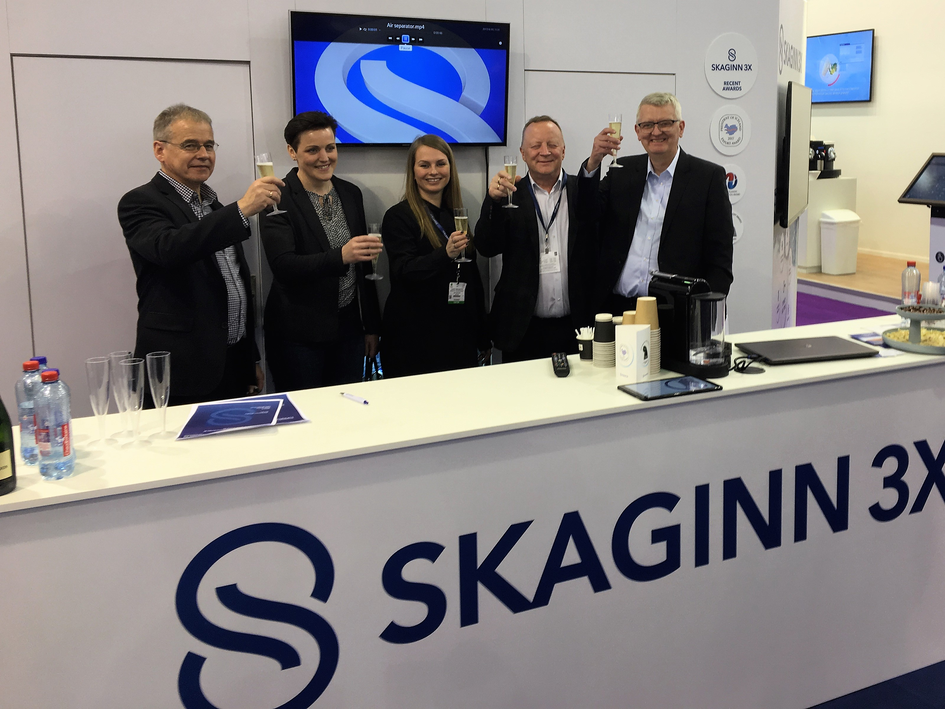 Skaginn 3X signed the contract on 25th April 2017 to provide processing deck equipment for a new fish trawler Drangey SK2 put to sea last week in Turkey.