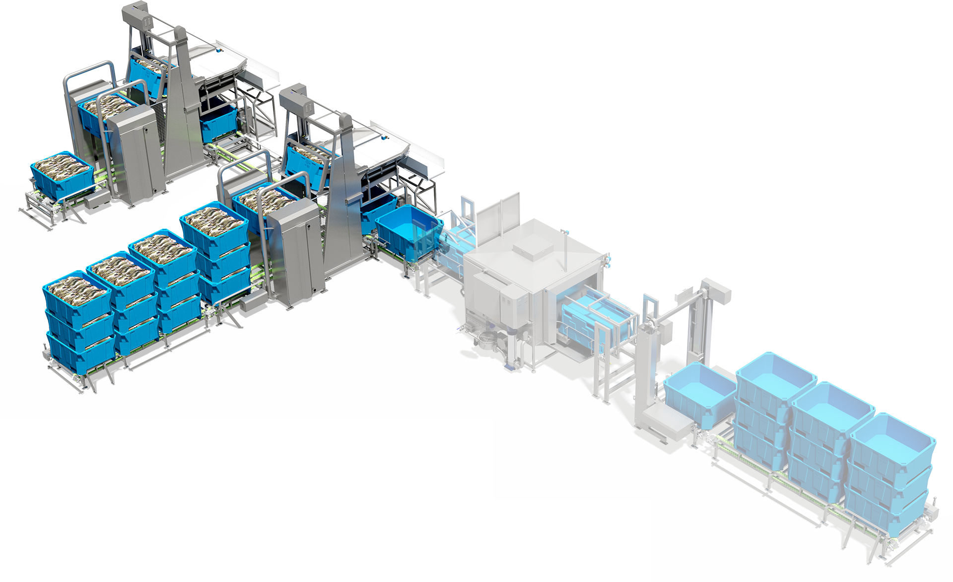 Automatic Tub Handling and Infeed System