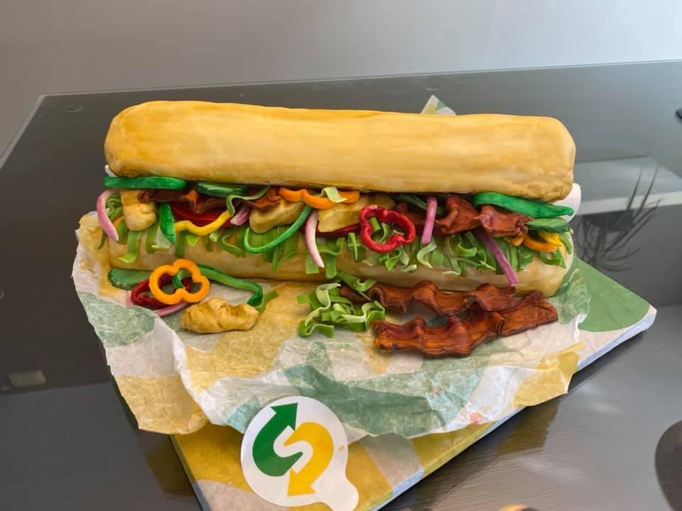 amazing sub sandwich cake