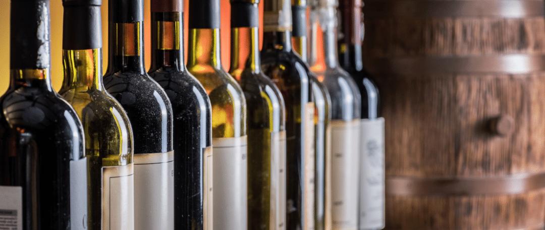 several bottles of wine