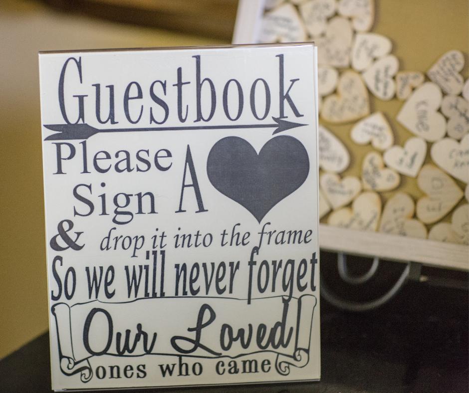 unique wedding guest book sign
