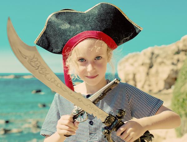 kid in a pirate costume
