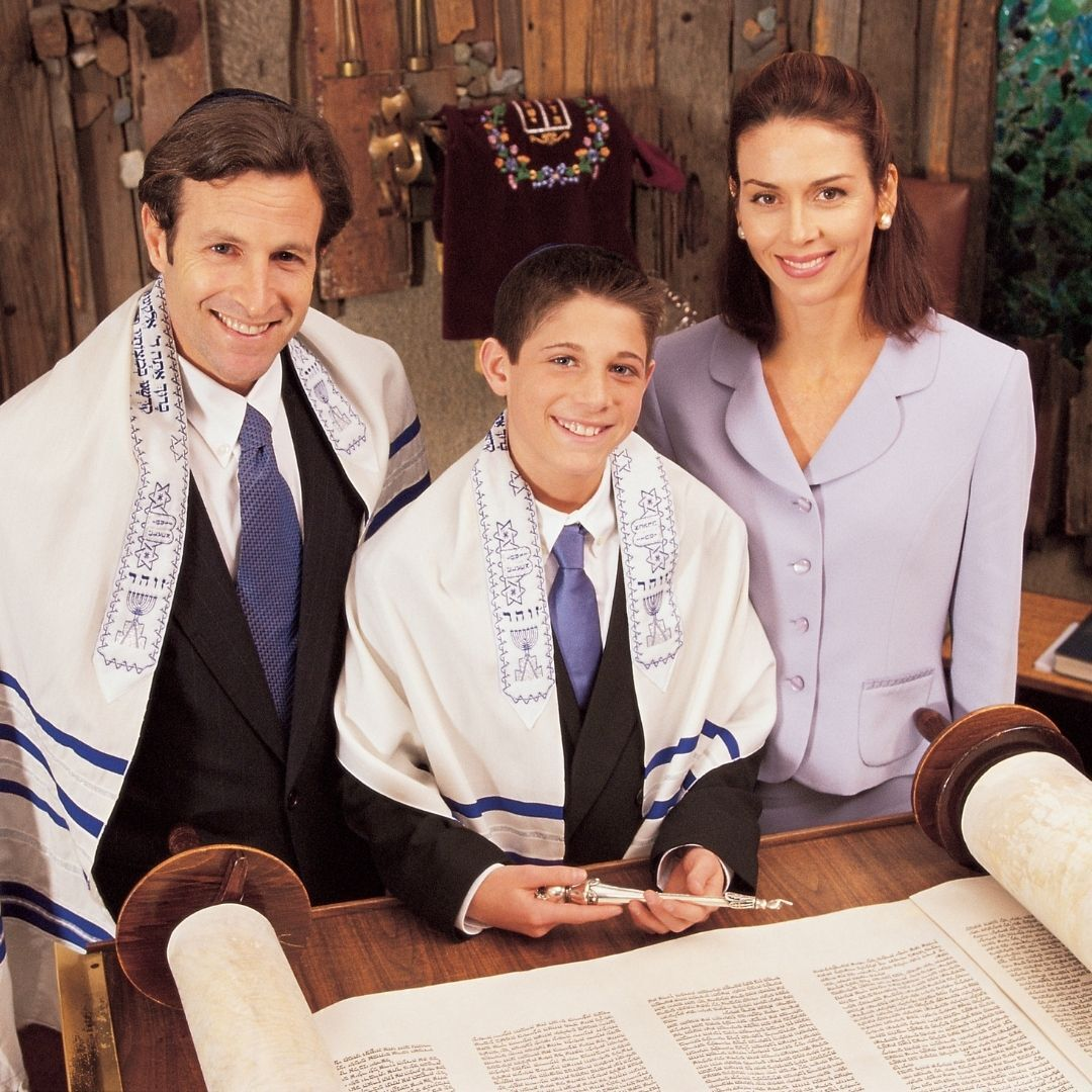 boy at bar mitzvah