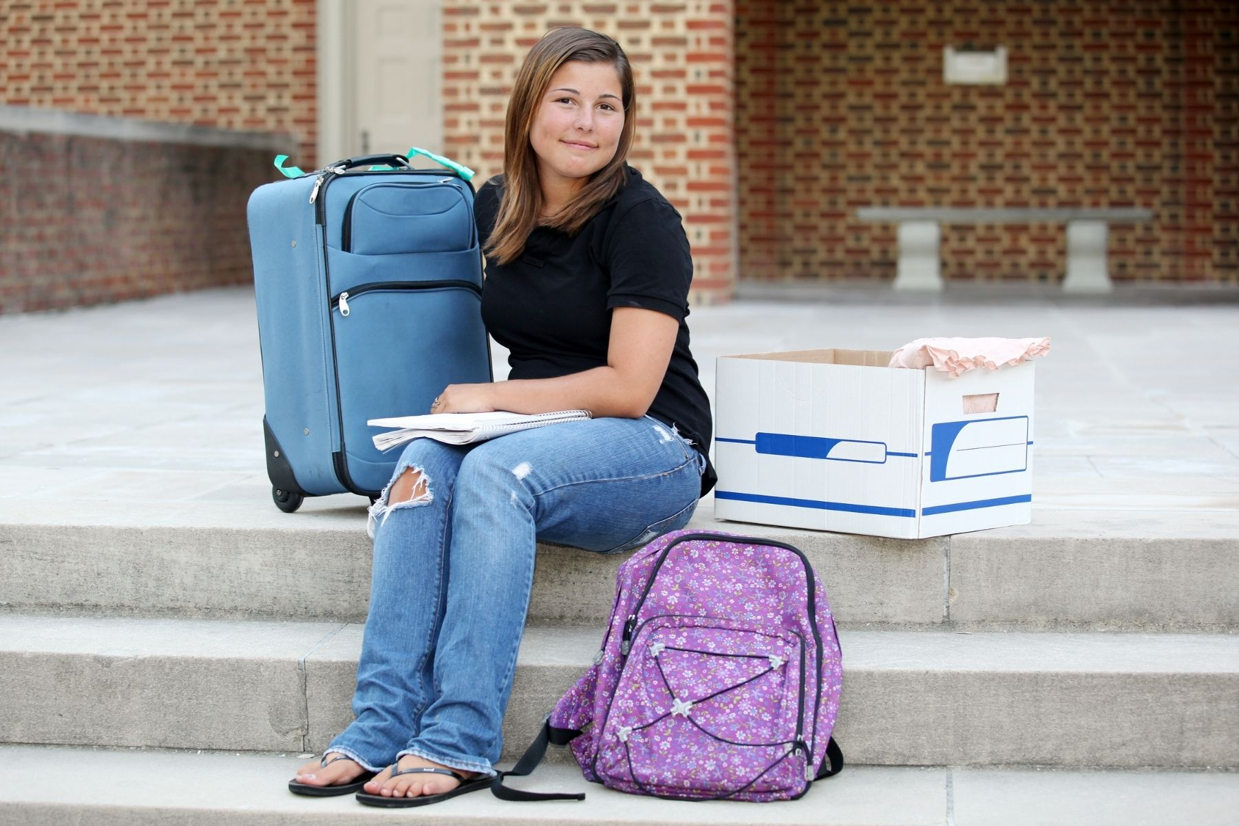 girl going off to college