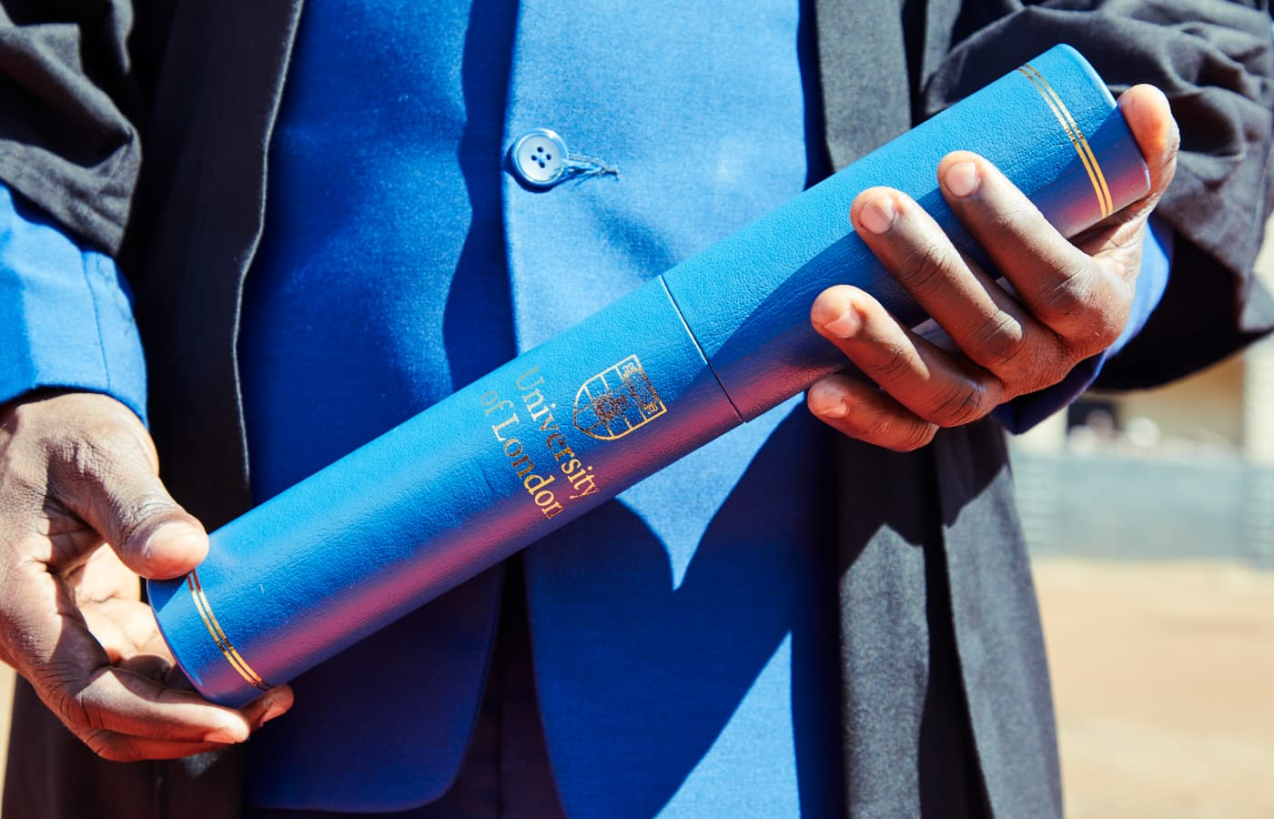 A Justice Defenders graduate holds a diploma from our partner, the University of London.