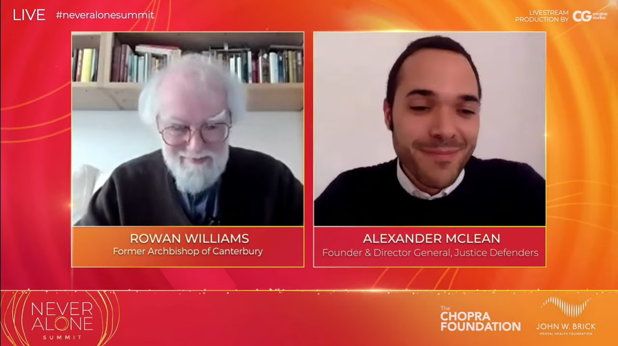 Former Archbishop of Canterbury Rowan Williams talks mental health with Alexander McLean