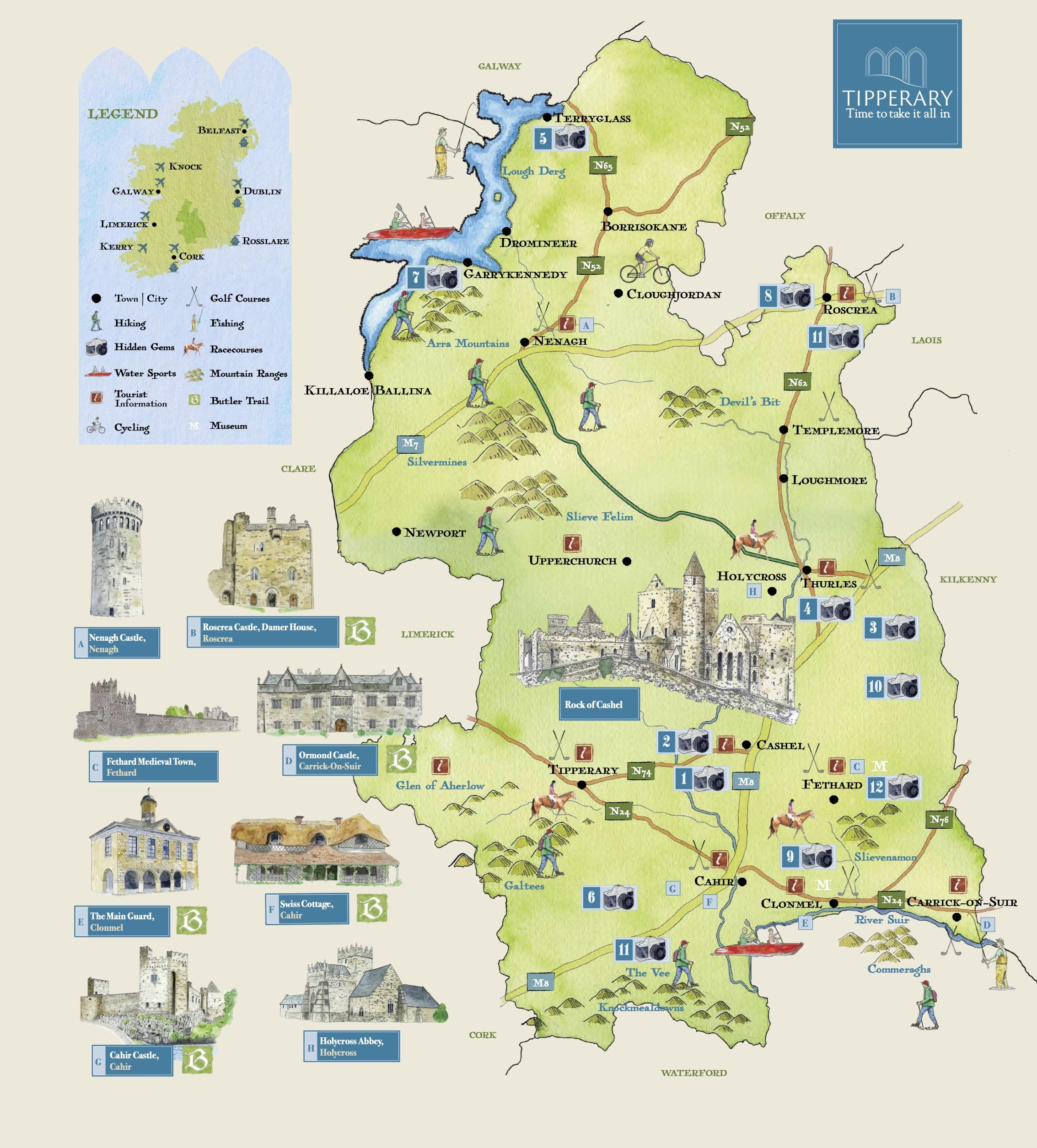 tipperary tourism map