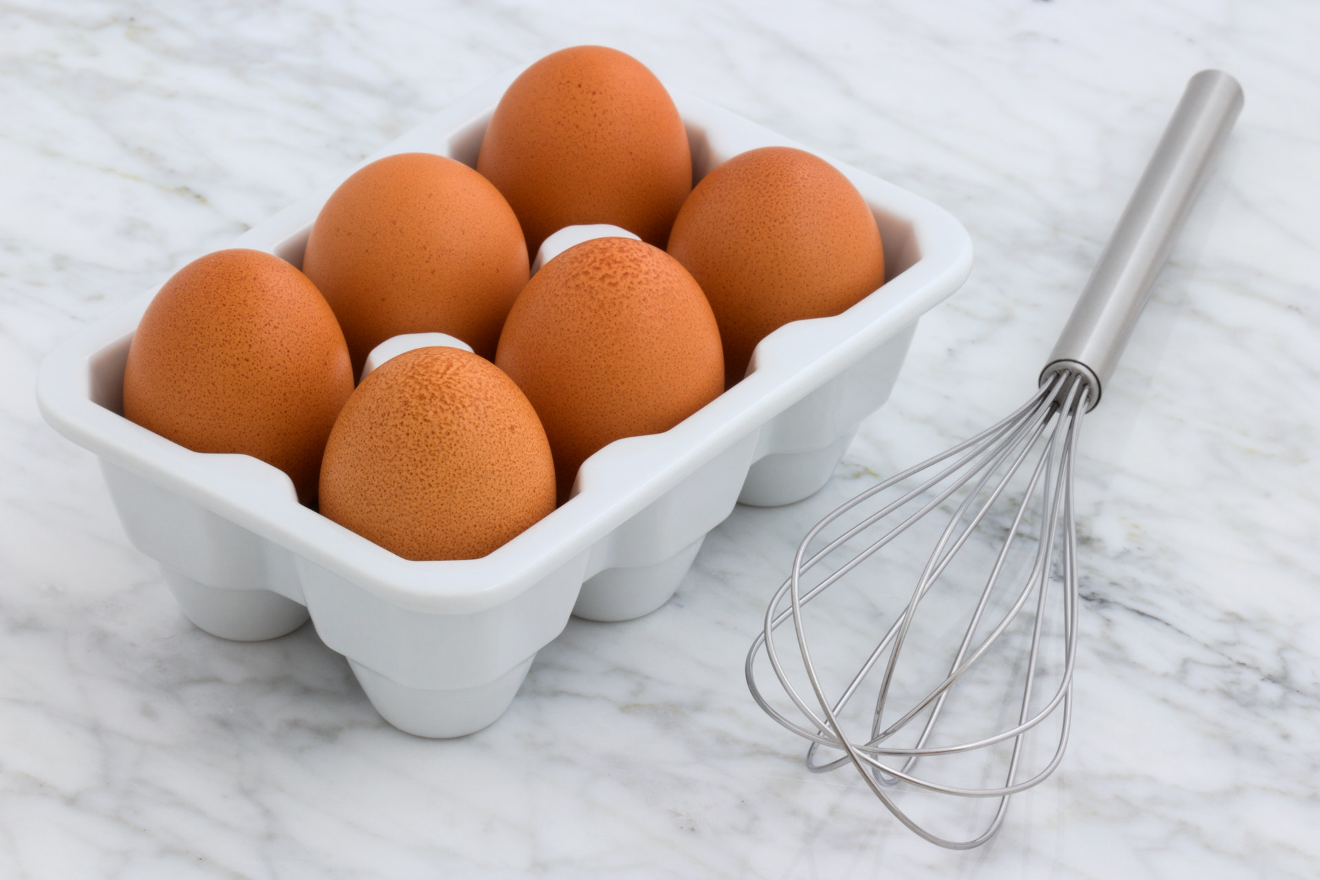 Six Eggs in a Tray