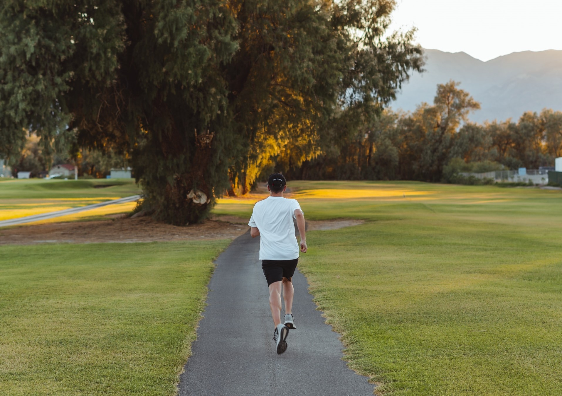 A man jogging in the morning