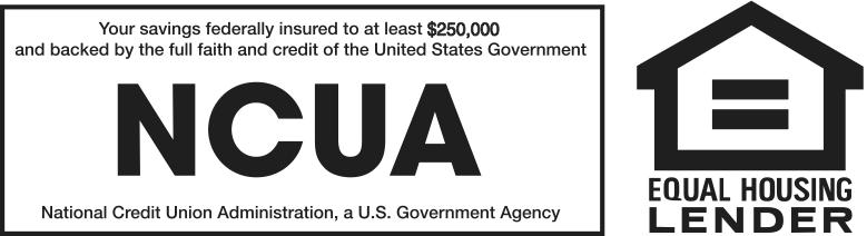 NCUA, Equal Housing Lender logos