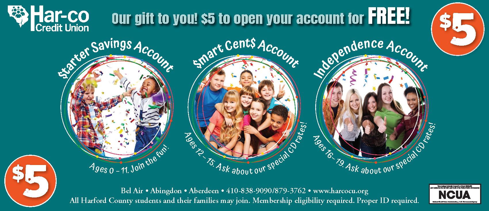 $5 Youth Account coupon