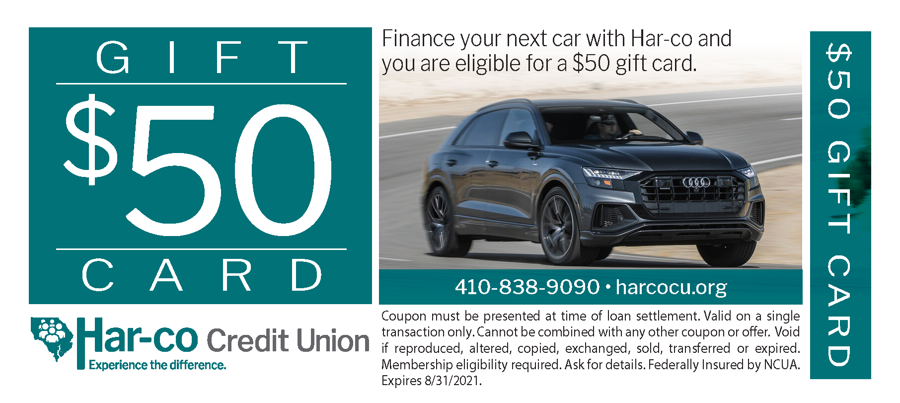 $50 auto gift card