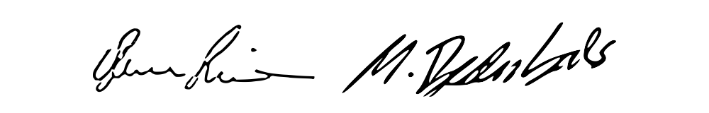 Signature of the partners.