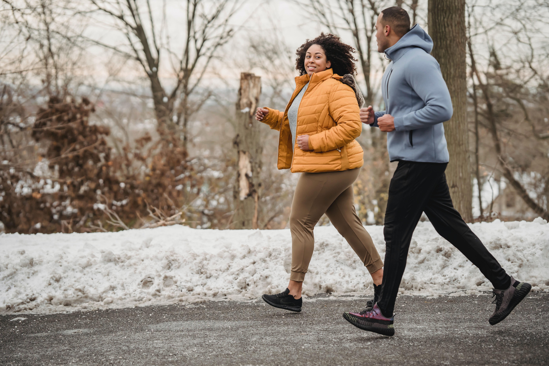 A couple running