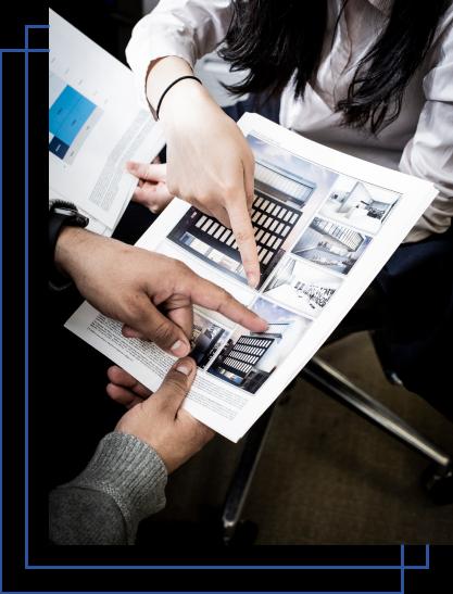 The Nuvo Group Team Analyzing Print Job