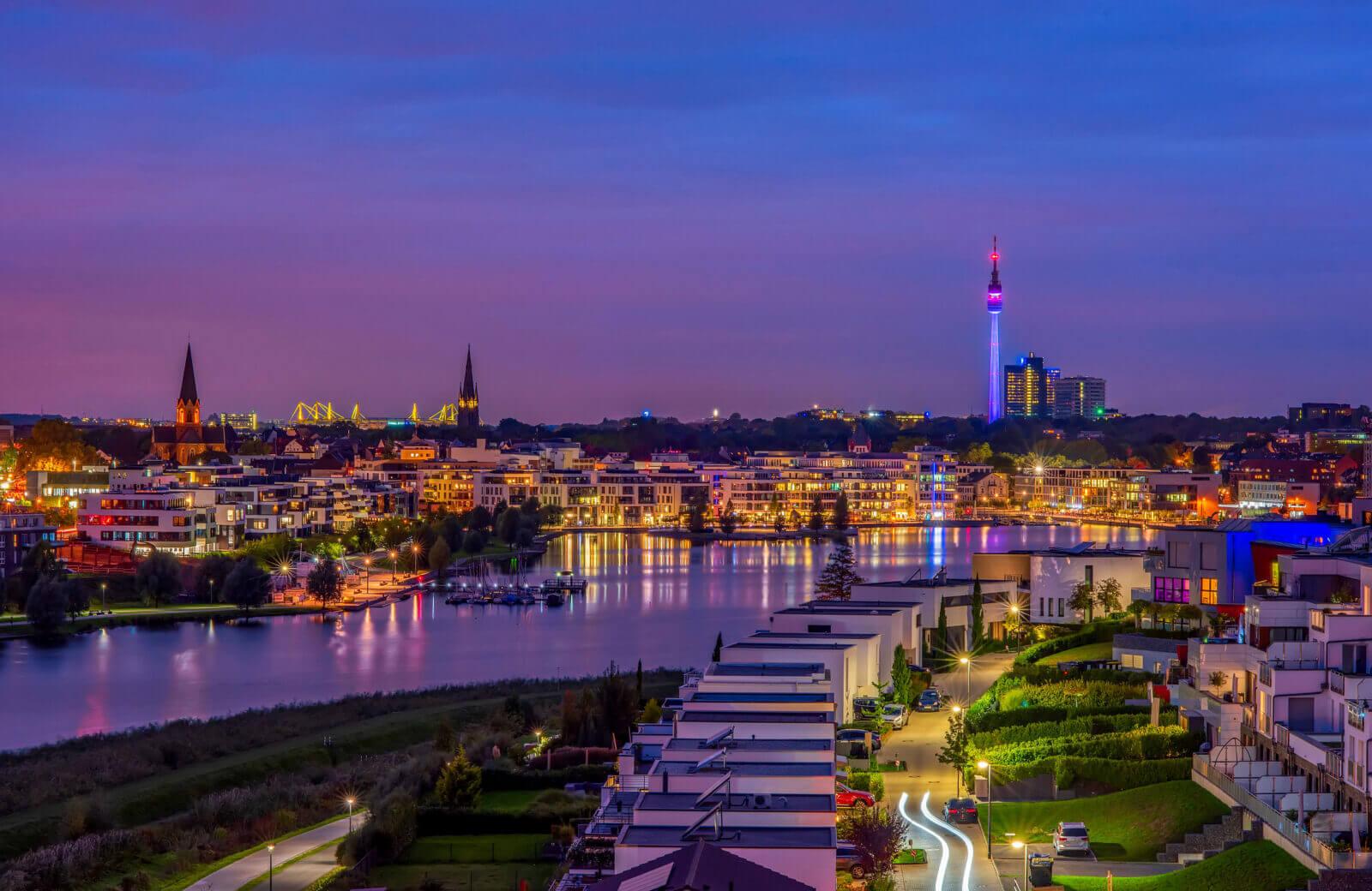 Skyline shot of Dortmund, Germany