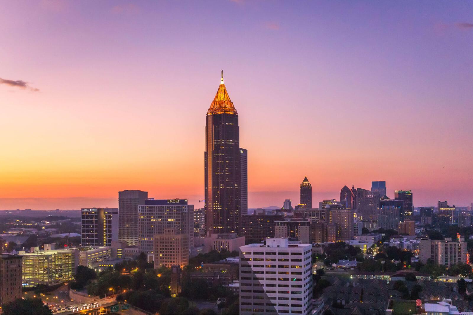 Skyline shot of Atlanta, Georgia