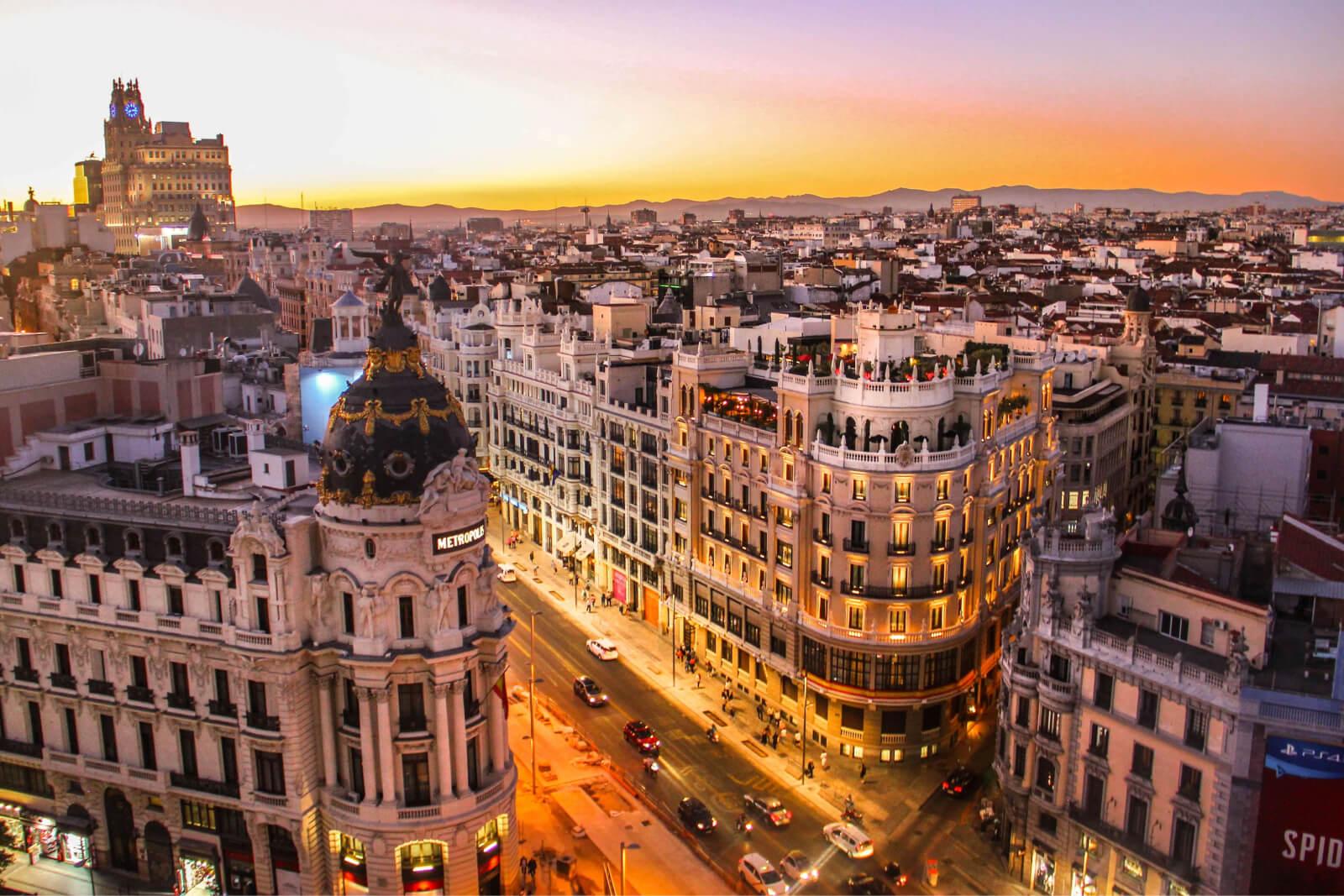 Skyline shot of Barcelona, Spain
