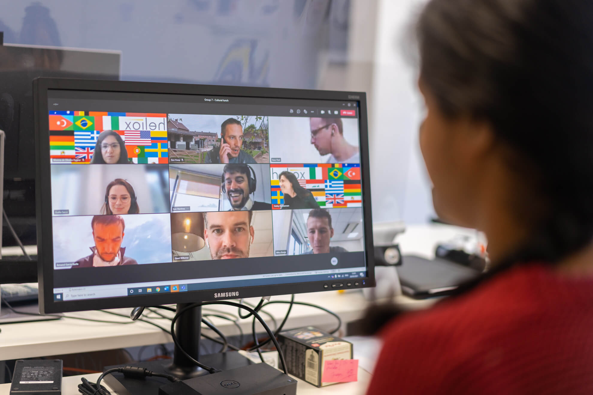 Employees of Heliox on a video call