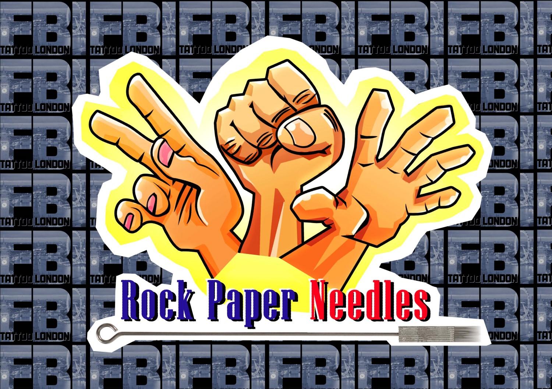 """""""ROCK-PAPER-NEEDLES"""" Game Token"""