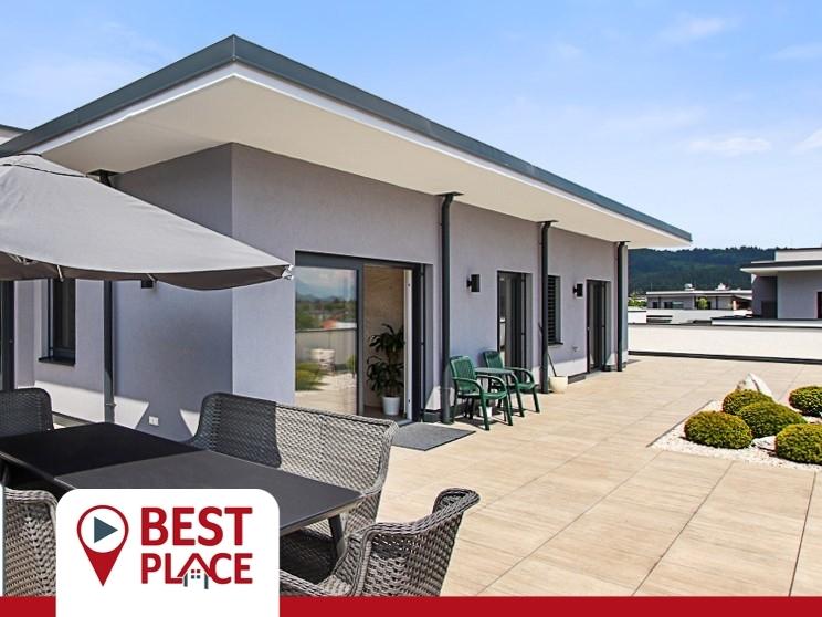 RESERVIERT: Penthouse mit atemberaubenden Karawankenblick und 177 m2 Terrasse