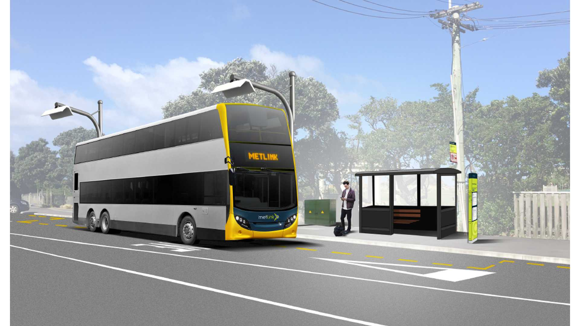 First electric double-decker busses in the WORLD in New Zealand