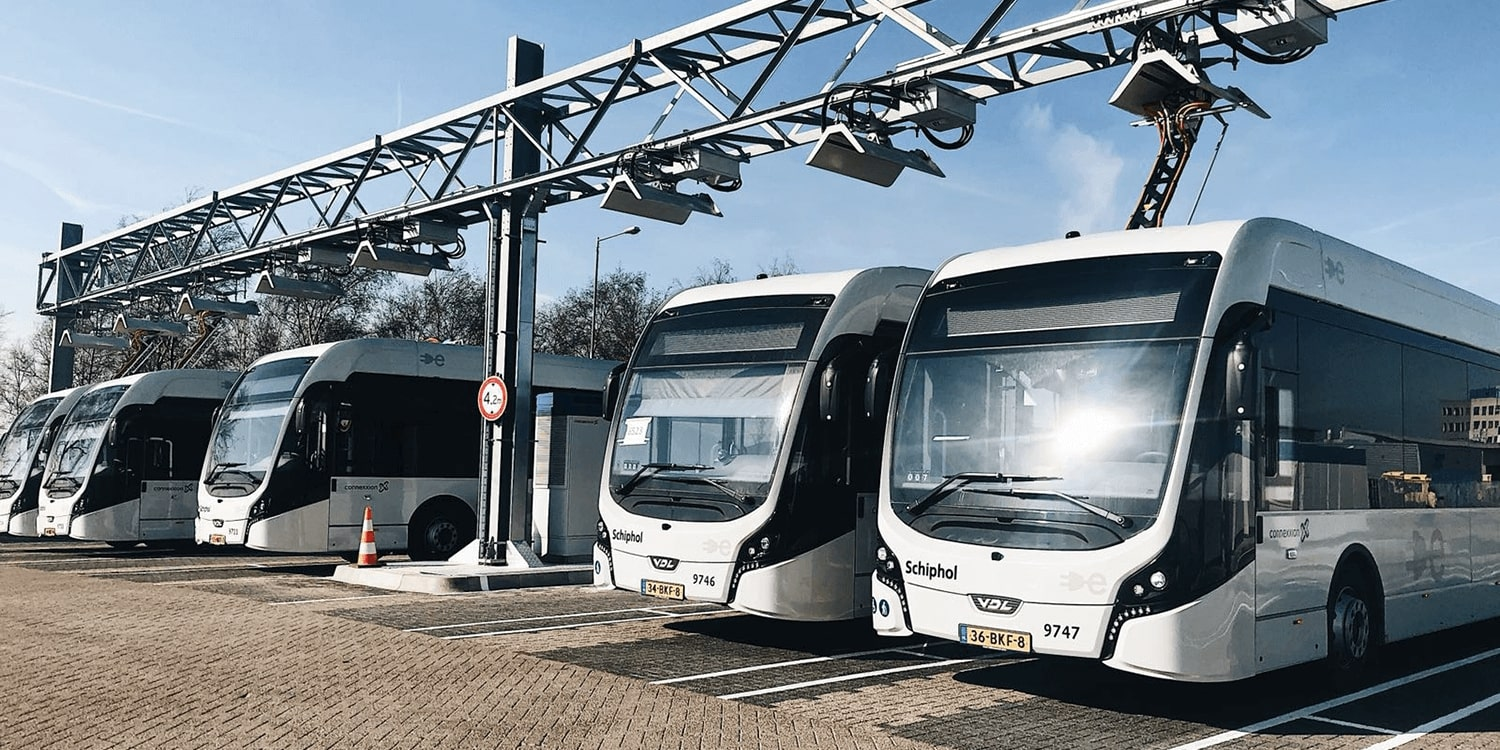 The WORLD's largest opportunity & depot charge network: Amsterdam Schiphol Airport