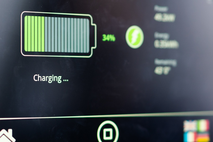 Interface of Heliox's charging software