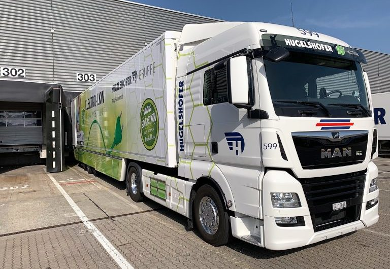 Electric truck parking