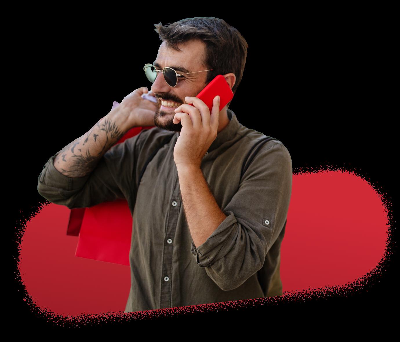 Solution digital et programmatique - Homme mobile drive to store