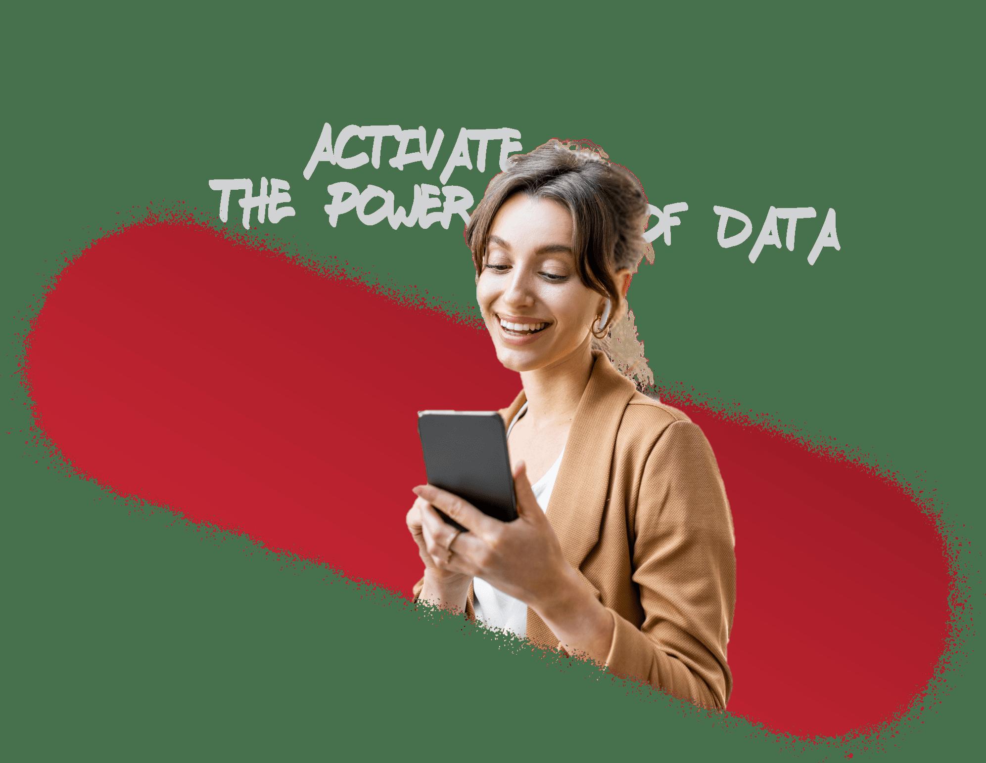 expert digital - Femme sur son mobile