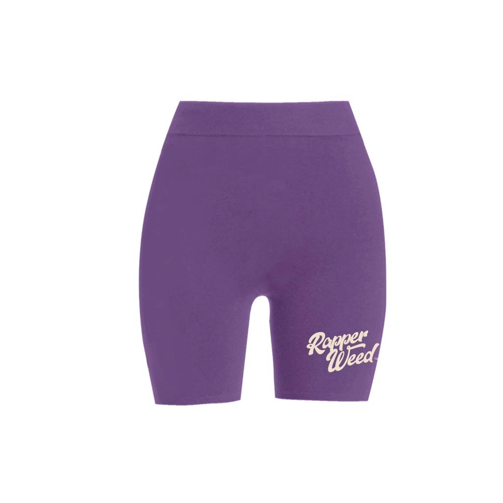 RW Purple Biker Shorts