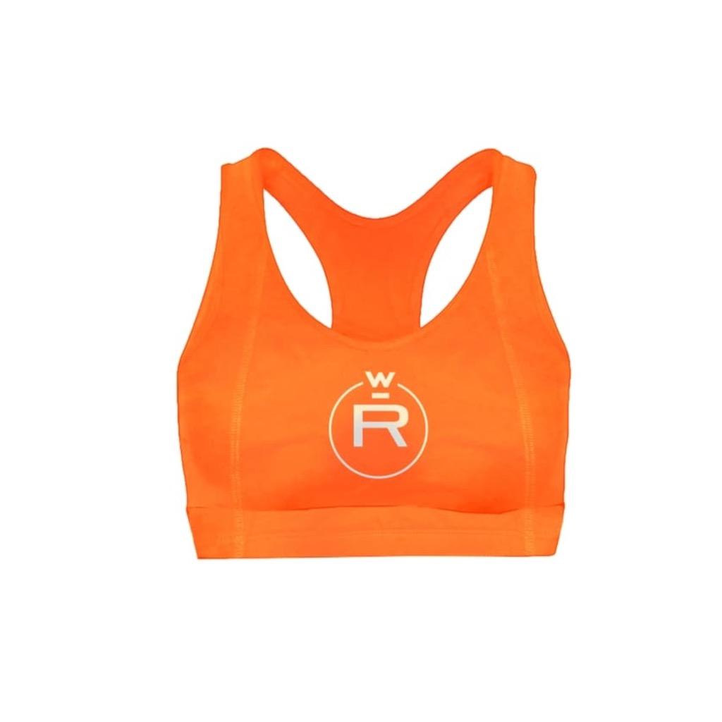 RW Neon 3M Logo Orange Sports Bra