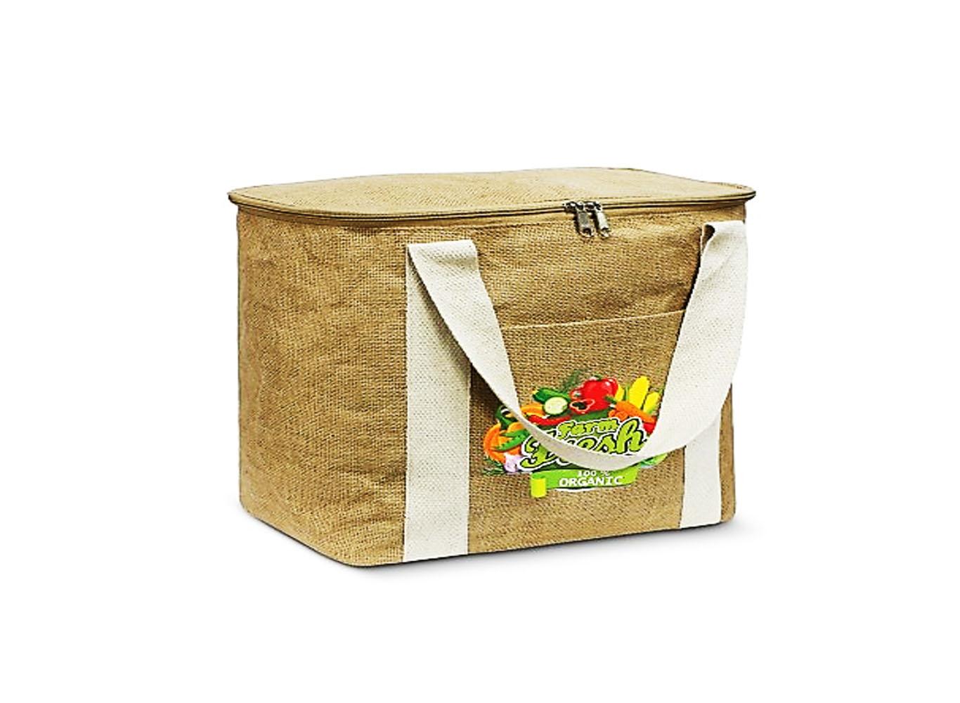 Eco Jute Cutom Cooler Bag