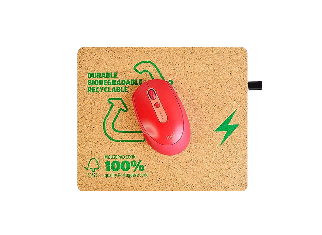 Eco Cork 2-in-1 Charging Mouse Pad