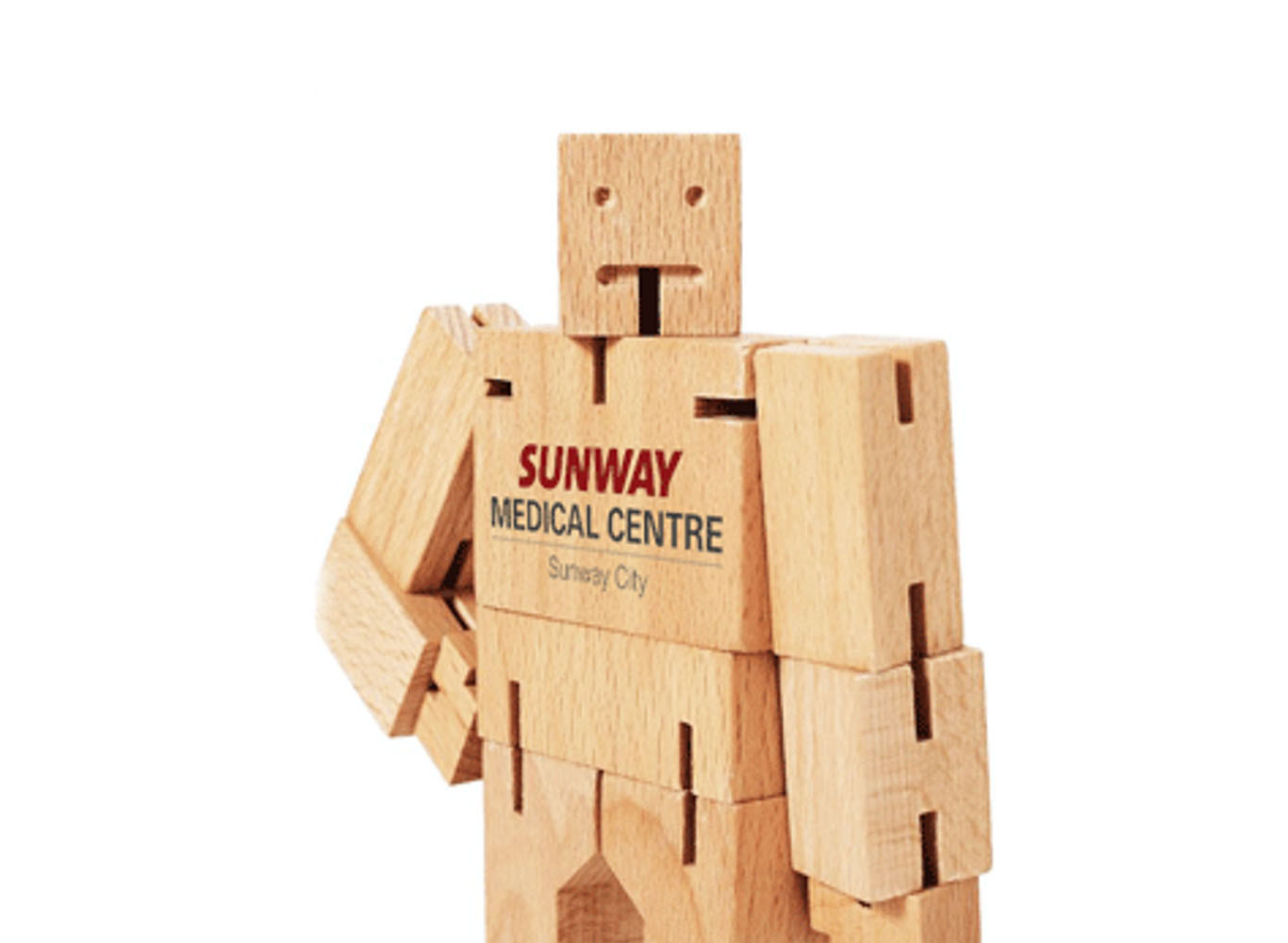 Eco Wooden Cubic Man