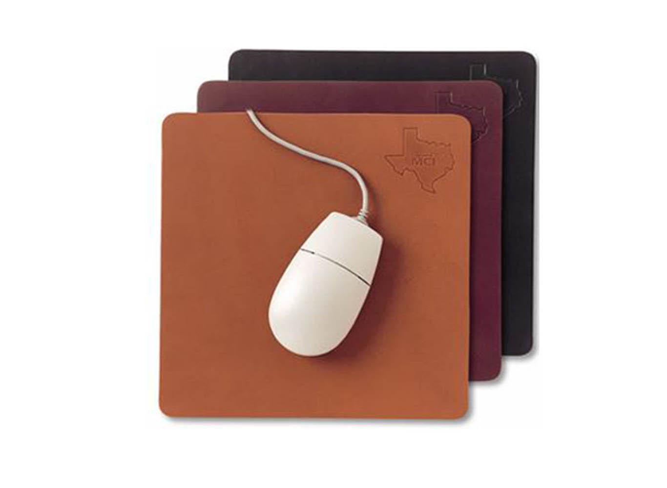 Custom Leather Mousepad Black/Brown