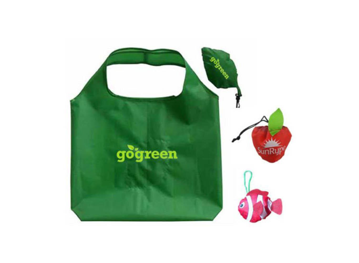 Recycled PET Custom Shape Fold Up Bag
