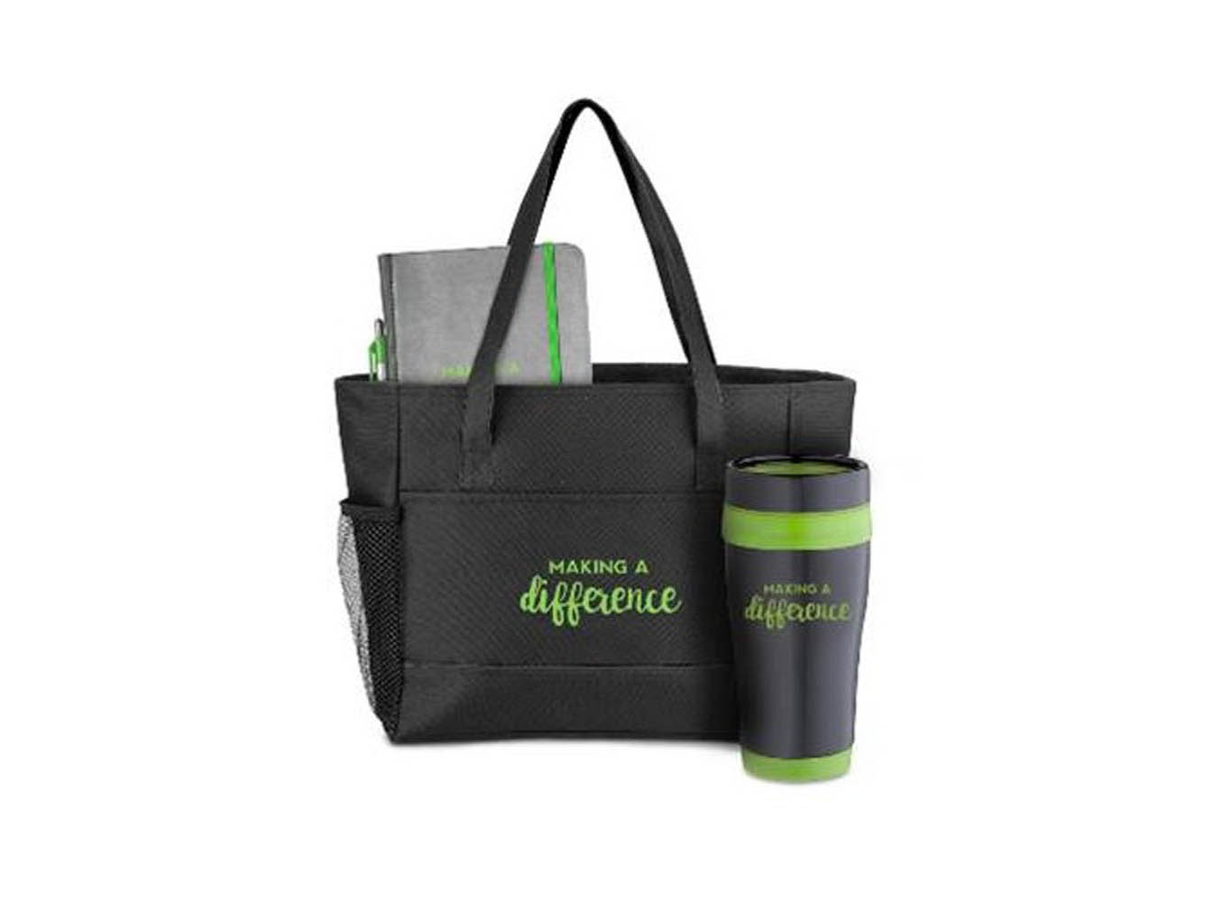 Eco Gift Set with Tumbler Notebook and Pen