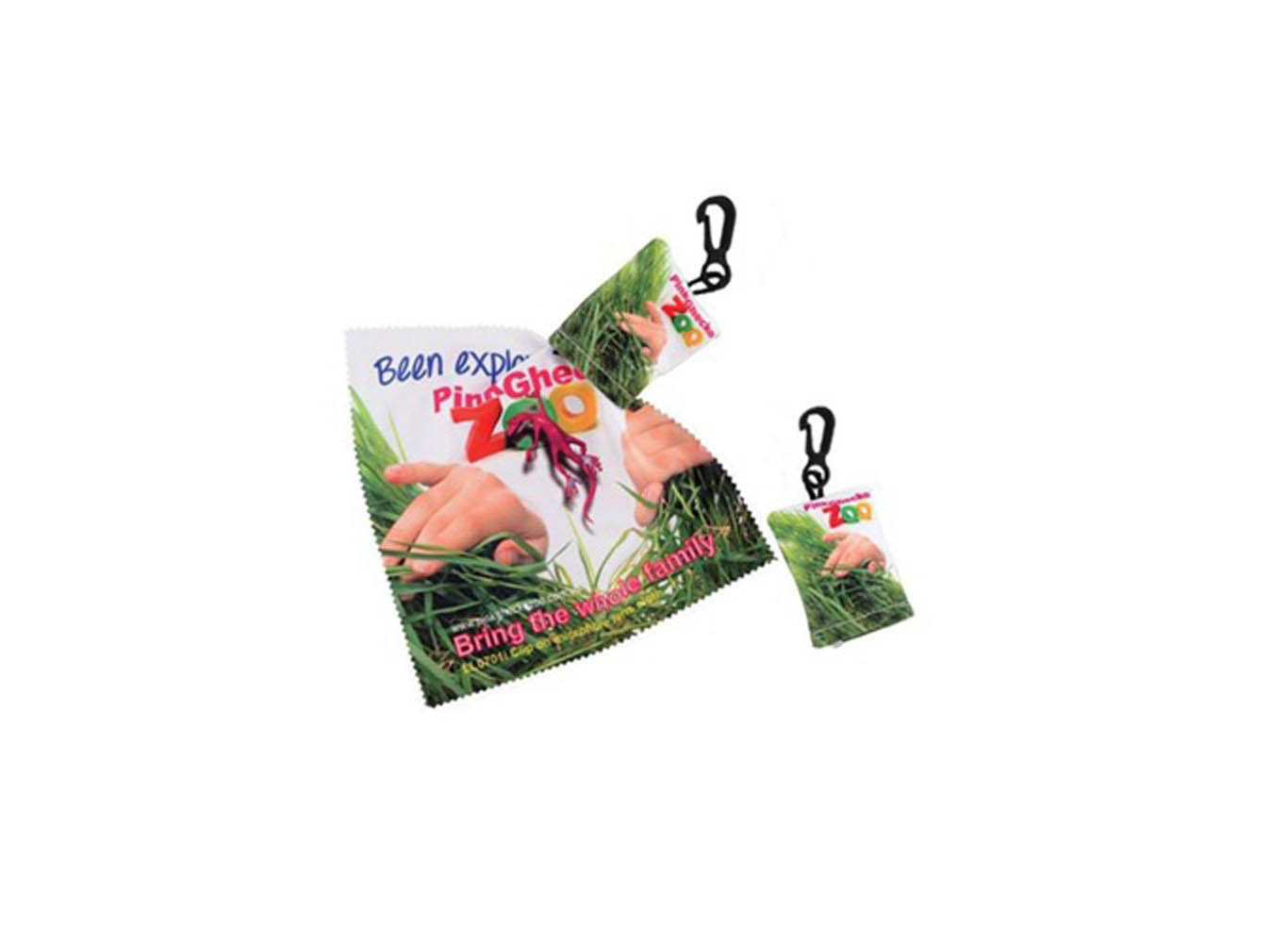 Custom Print Microfiber Cloth with Pouch Carabiner