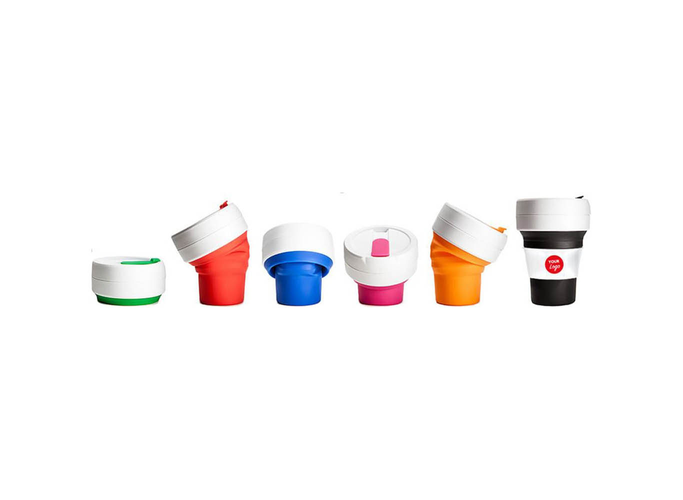 Reusable Custom Color Silicone Collapsible Cup