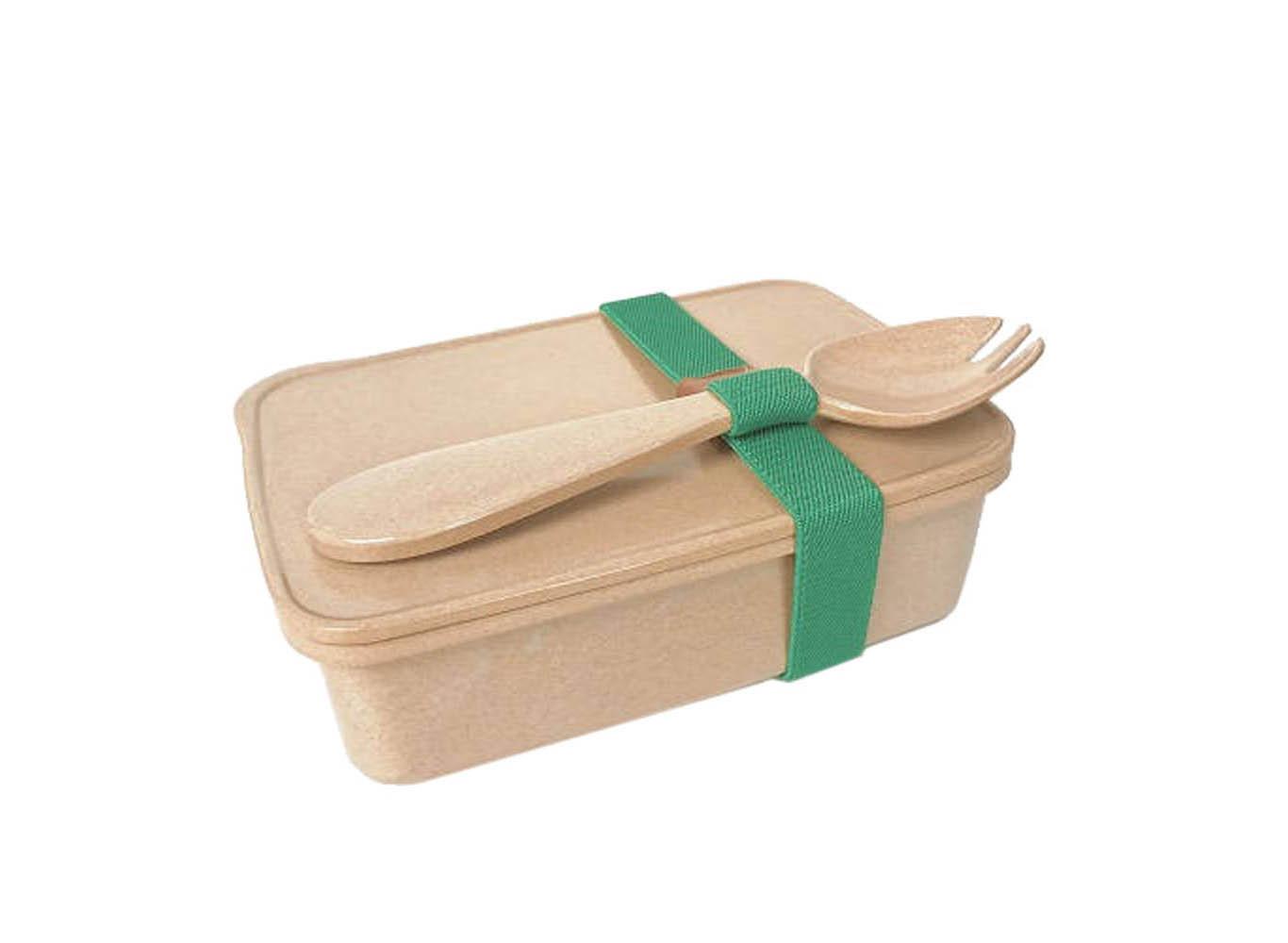 100% Biodegradable Rice Husk Fiber Bento Box