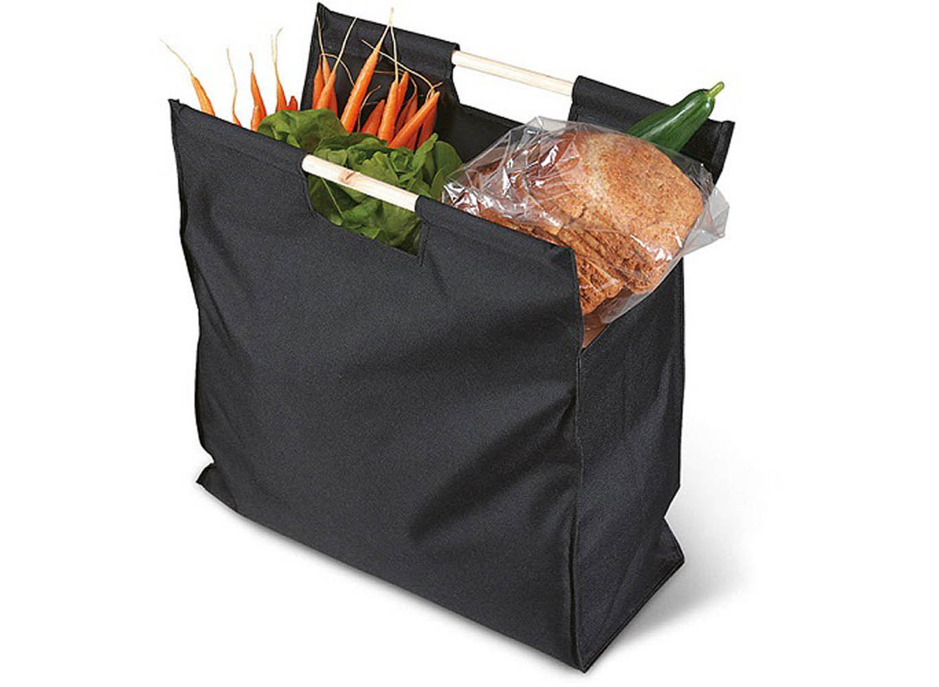Tote Bag with Wooden Handle