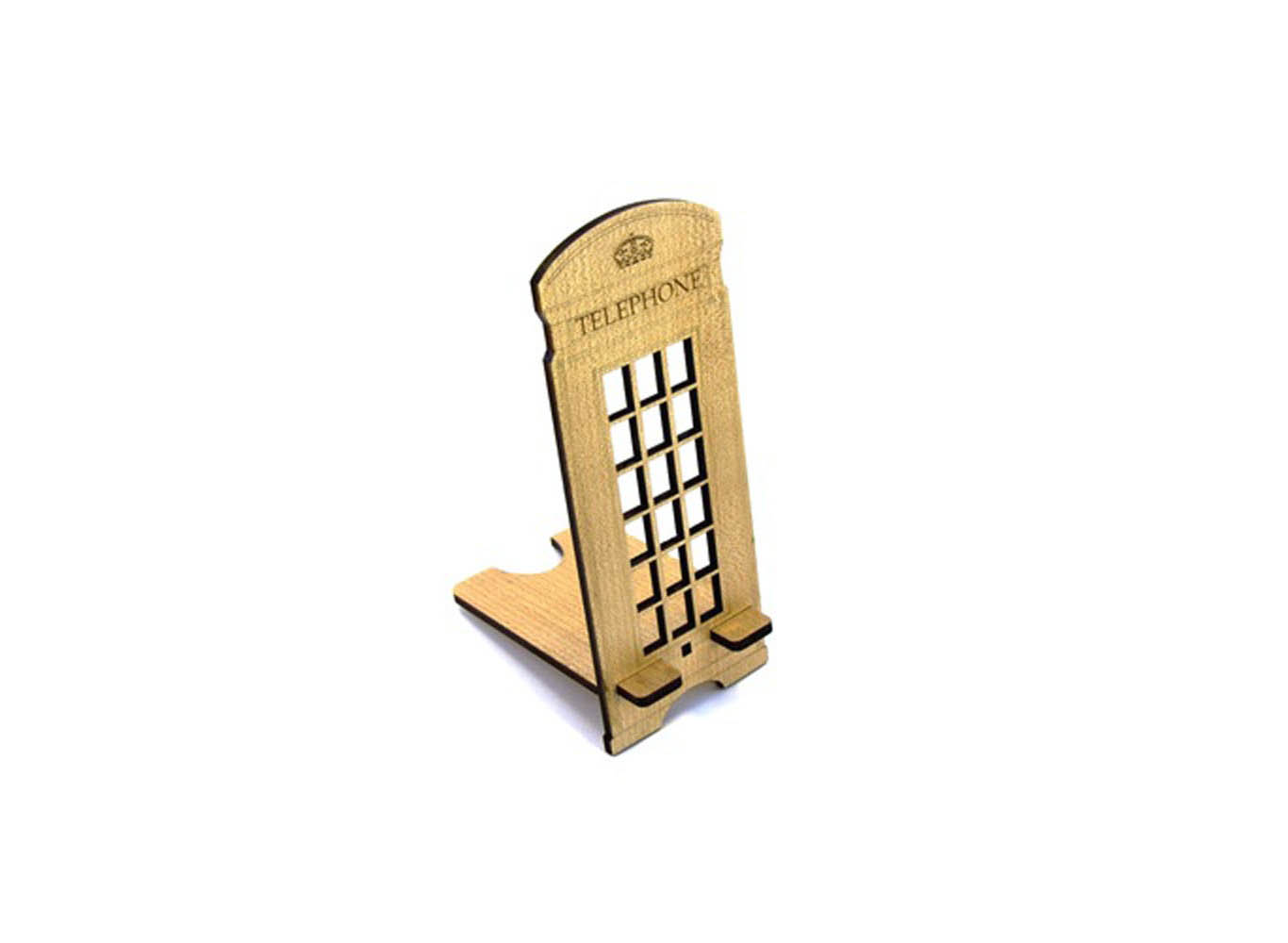 Custom Shaped Wooden Phone Stand