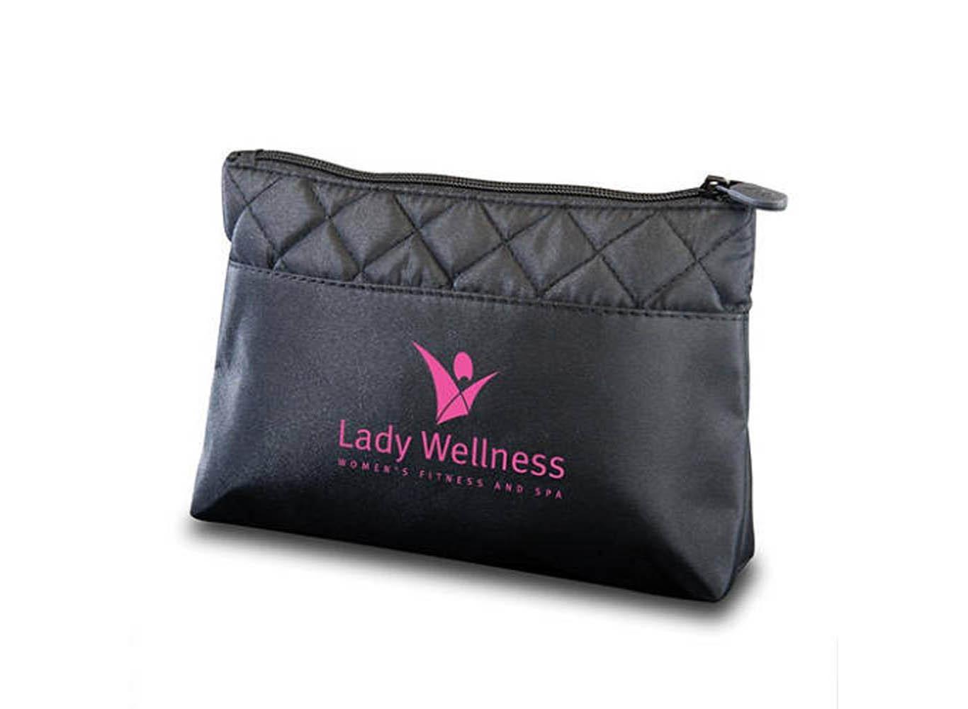 Custom Logo Diamond Quilted Makeup Bag