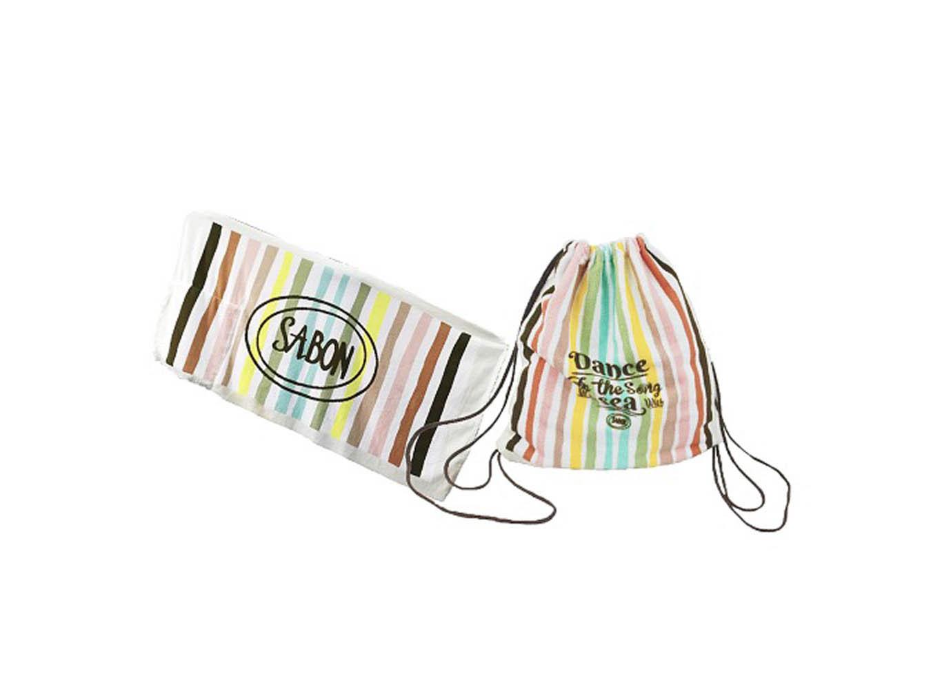 Custom 2-in-1 Microfiber Towel & Drawstring Backpack